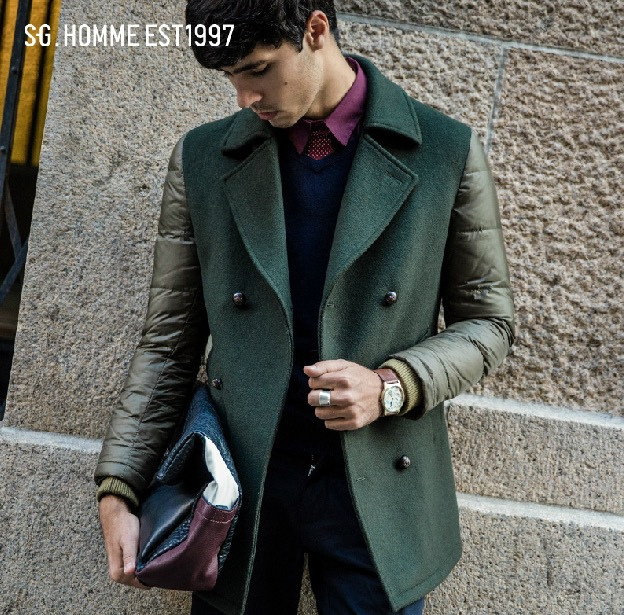 Pre Sale quality 2017 men winter 33% wool 90% white duck down casual turn-down collar long suits super slim blue green 2xl plus