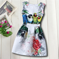 2017 NUEVO Diseño de Impresión Muchachas de La Princesa Niños Vestido de Partido Tela Fantasia Vestidos Bebés Vestidos Vestido de Verano Bebé Niño Personalizada