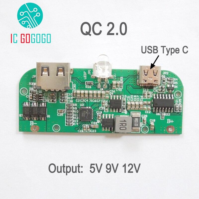 Qc2 0 3 7v To 5v 9v 12v Usb 3 1 Type C Mobile Power Bank