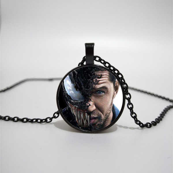 Venom Necklace Science Fiction Movie Deadly Guardian Glass Necklace Private Custom Fashion Bag Car Keychain Bullion Glass