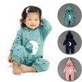 Зимняя Мода марка мальчиков младенца девочек детский комбинезон эксклюзивный Sar Луна стиль Детские одежда с hat теплый хлопок Картер одно кусок