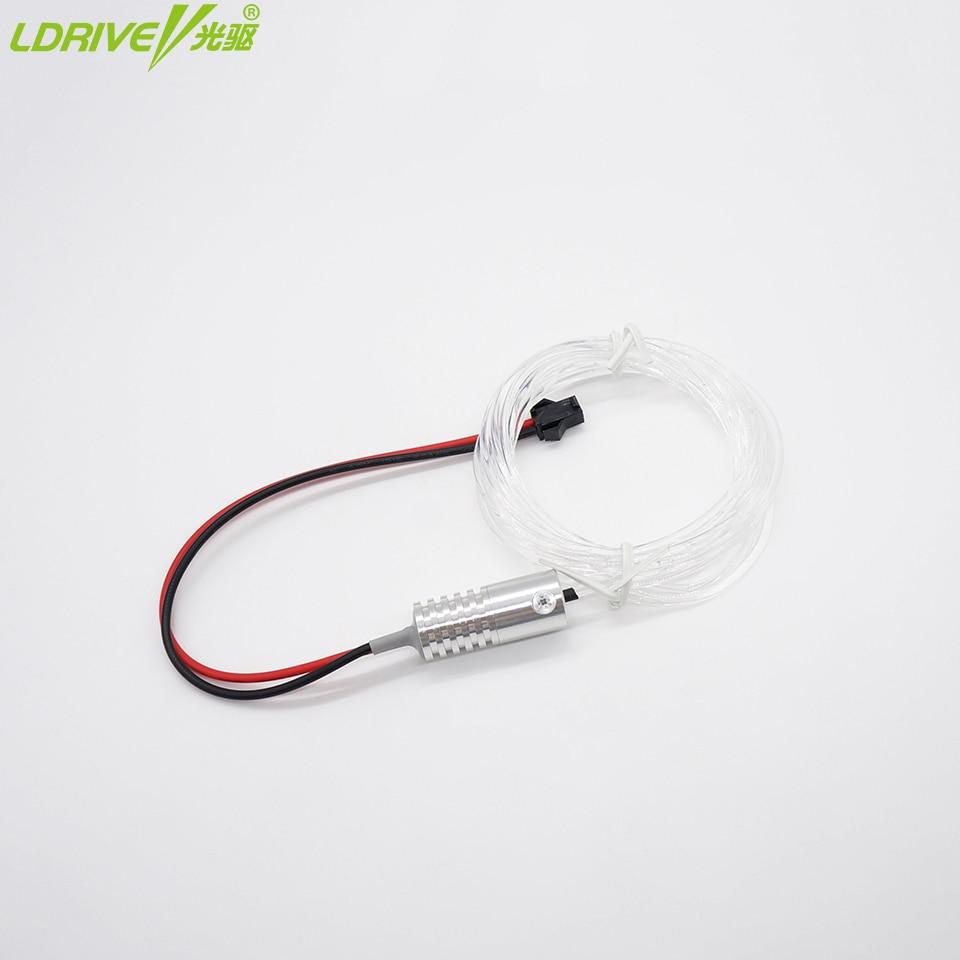 LDRIVE 5 in1 mobil Interior Lampu Hias Optik 1.5 M 12 V DIY Serat - Lampu mobil - Foto 2
