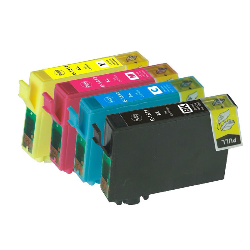 4X Compatible Ink Cartridges T1801-T1804 For Epson Expression Home XP-30/102/202/205/302/305/402/405WH printer Inkjet Cartridge