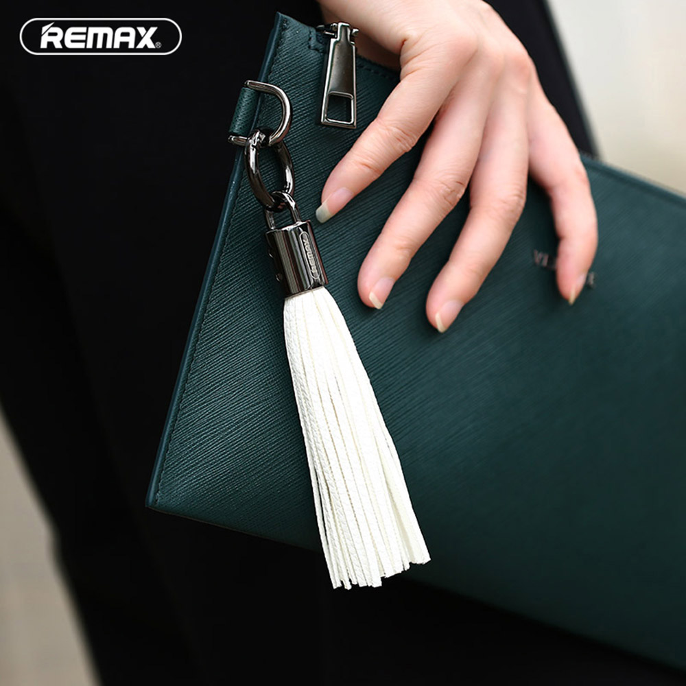 Image 4 - Remax Leather Tassel key chain USB Cable 3A fast charger cables mini usb Data Transfer Charger for iPhone 5 6s 7 8 plus XS Cord-in Mobile Phone Cables from Cellphones & Telecommunications