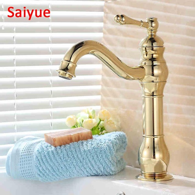 New Deck Mounted Several types bathroom basin gold faucet ,Brass ...