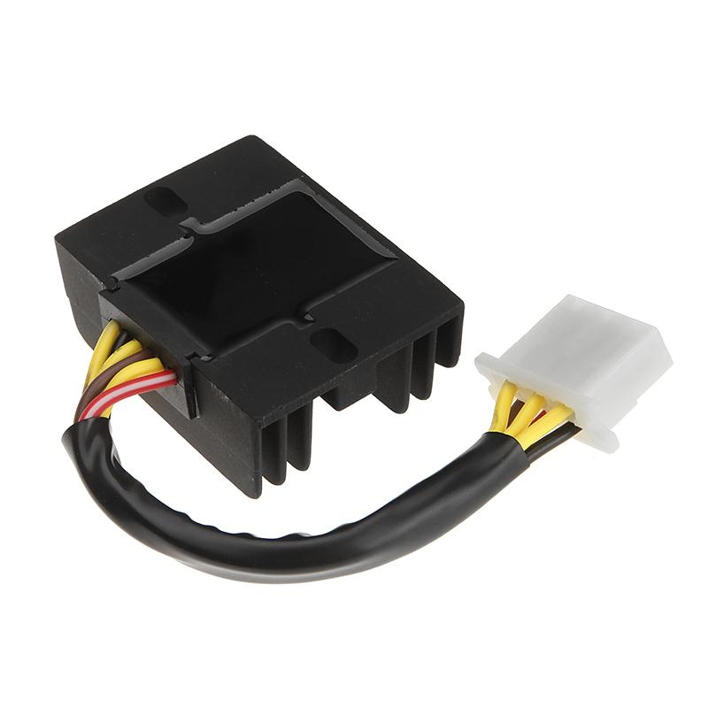 6 pin Female Plug Motorcycle 12V Black Metal Voltage Regulator ...