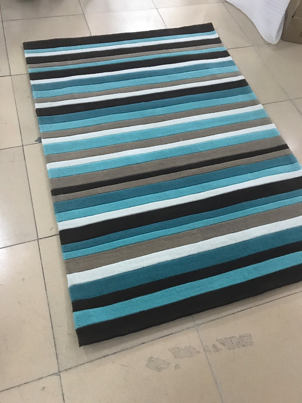 Tapis acrylique méditerranéen de haute qualité grand salon tapis chambre bleue tapis Table à thé tapis de sol rectangulaire