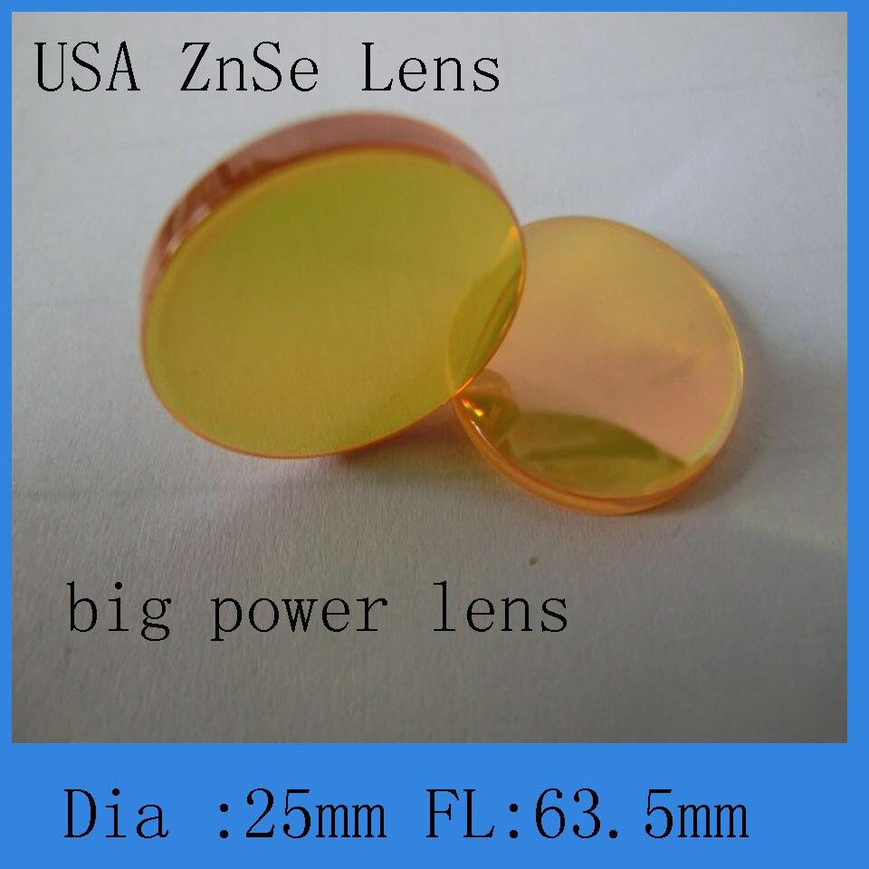 Высокое качество и большой мощности лазера со2 фокус объектива 25 мм диаметр 63.5 мм фокус объектива Мениска структура
