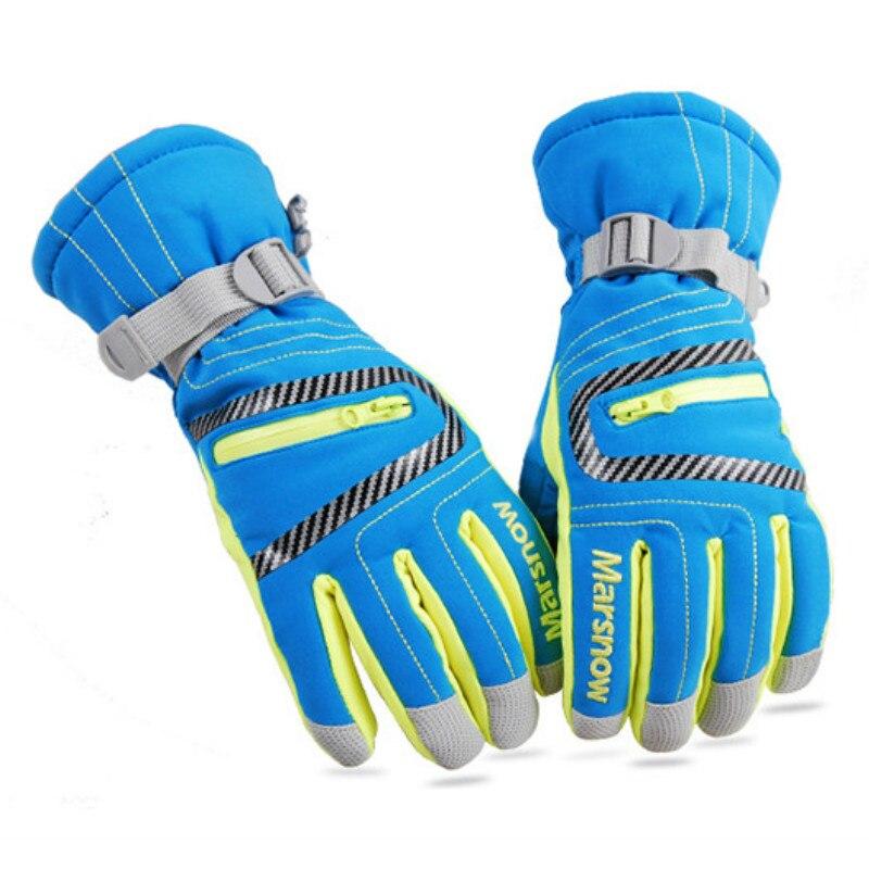 MARSNOW Winter Outdoor Waterproof Warm Skiing Gloves Men Women Children Climbing Snowboarding Sports Cotton Gloves -30 Degree