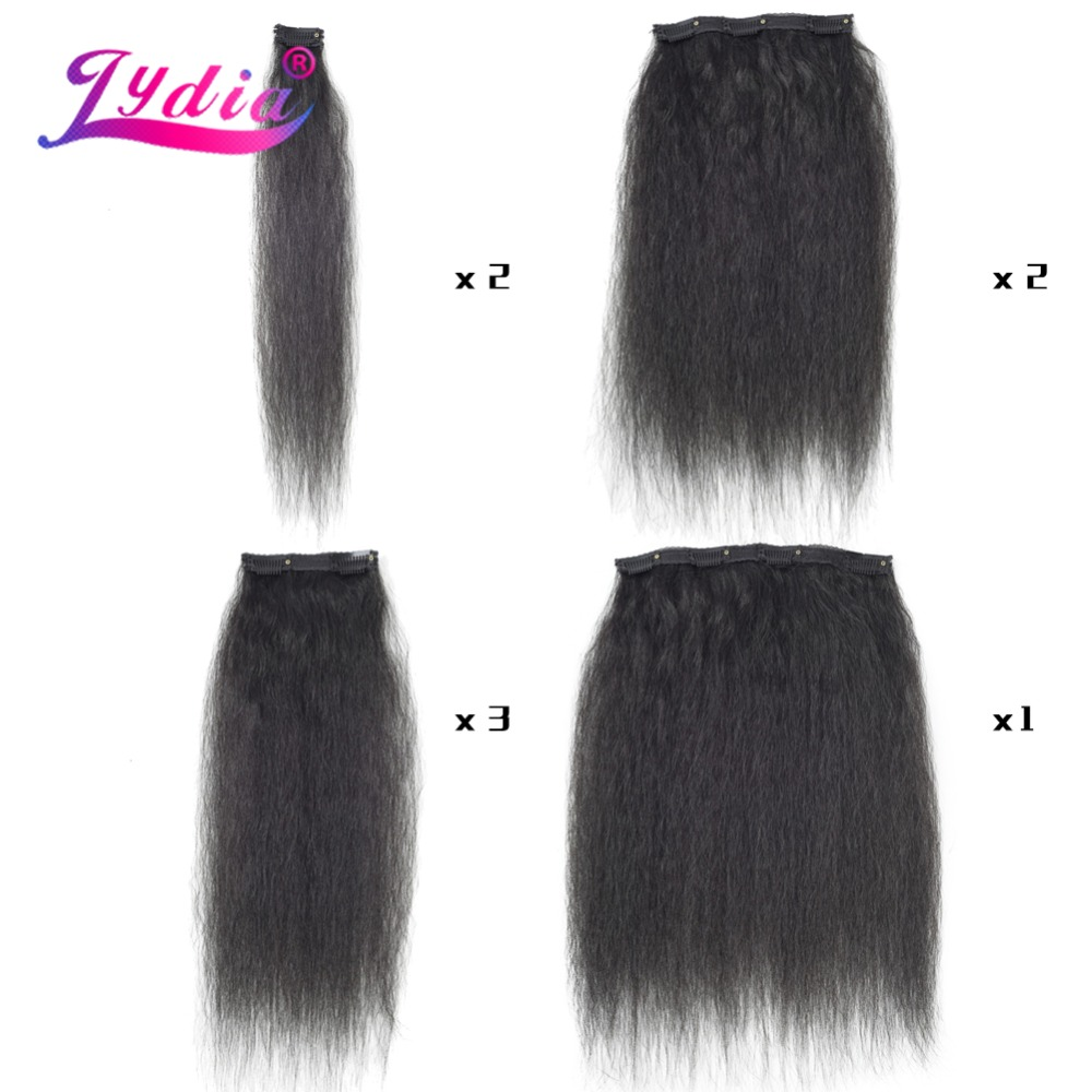 HTB1A.euL4naK1RjSZFBq6AW7VXa8 - Lydia 8Pcs/set 18 Clips In Hair Hairpieces 16-20 Inch Kinky Straight Long Synthetic Heat Resistant Hair Extensions Bundles