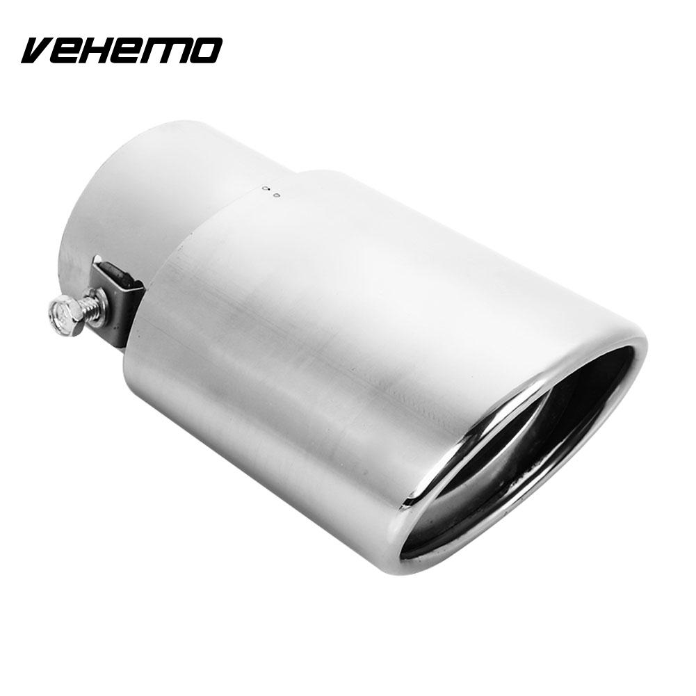 Car Tail Throat Car Muffler Tip Universal Car Exhaust Pipe Truck Diameter Stainless Steel Fit 1.5 To 2.5 Inch