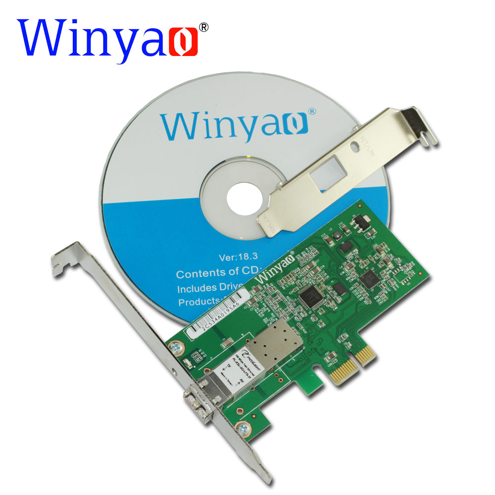 Winyao WY8105FX PCI-E X1 100FX SFF LC (1310nm 10KM) Desktop Fiber Ethernet Network Card Adapter For RTL8105E 100Mbps NIC winyao usb100f usb2 0 to 100fx sfp desktop fiber ethernet network card adapter ax88772b nic for pc macbook air laptop notebook
