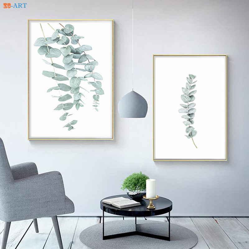 Wall Prints For Living Room Australia Laminate Flooring And Hall Eucalyptus Plant Leaf Print Poster Botanical Art Minimalist Canvas Painting Pictures Home Decor My Life Style Shop