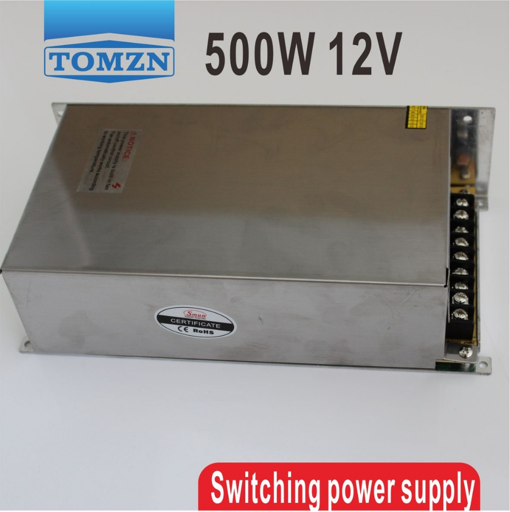 500W 12V 40A 110V INPUT Single Output Switching power supply for LED Strip light AC to DC image