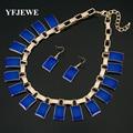YFJEWE Fashion Girl Прекрасный Ювелирные Наборы смолы цвет Форма Ожерелье Серьги женщины Подарок На День Рождения Свадьба Серьги Ожерелья # N194