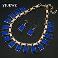 YFJEWE Muchacha Encantadora de La Manera Sistemas de la Joyería de resina de color Collar de la Forma Pendientes de la Mujer de Regalo de Cumpleaños de La Boda Collar Pendiente # N194