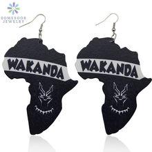 Somesoor wakanda африканские деревянные висячие серьги дизайнерские