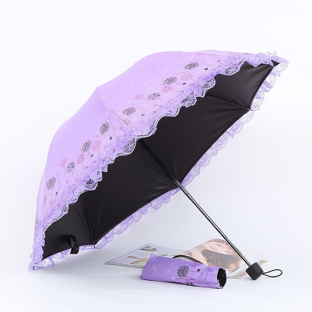 Pattern Watercolor 14 Tropical Leaves fashion print cute Windproof automatic tri-fold umbrella sun UV protection Sun umbrella