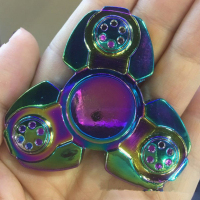 Russian CKF Colorful Triangle Gyro Fidget Spinner Metal EDC Hand Finger Spinner For Autism ADHD Anxiety
