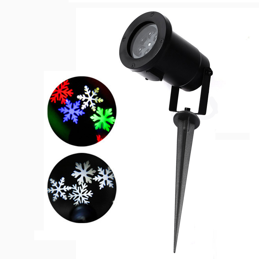 New Arrival White Snow Moving Laser Lamp Landscape Project Snowflake LED Stage Light for Festival Party Christmas Decoration 4w snow love kaleidoscope led stage lamp light logo light