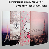 Painted Cartoon Pattern PU Leather Case For Samsung Galaxy Tab A A6 10 1 2016 T580