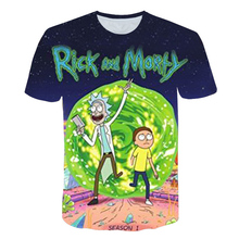 Brand Rick And Morty T Shirt Men Anime Tshirt Chinese 3d Printed T-shirt Hip Hop Tee Cool Mens Clothing 2018 New Summer Top цена