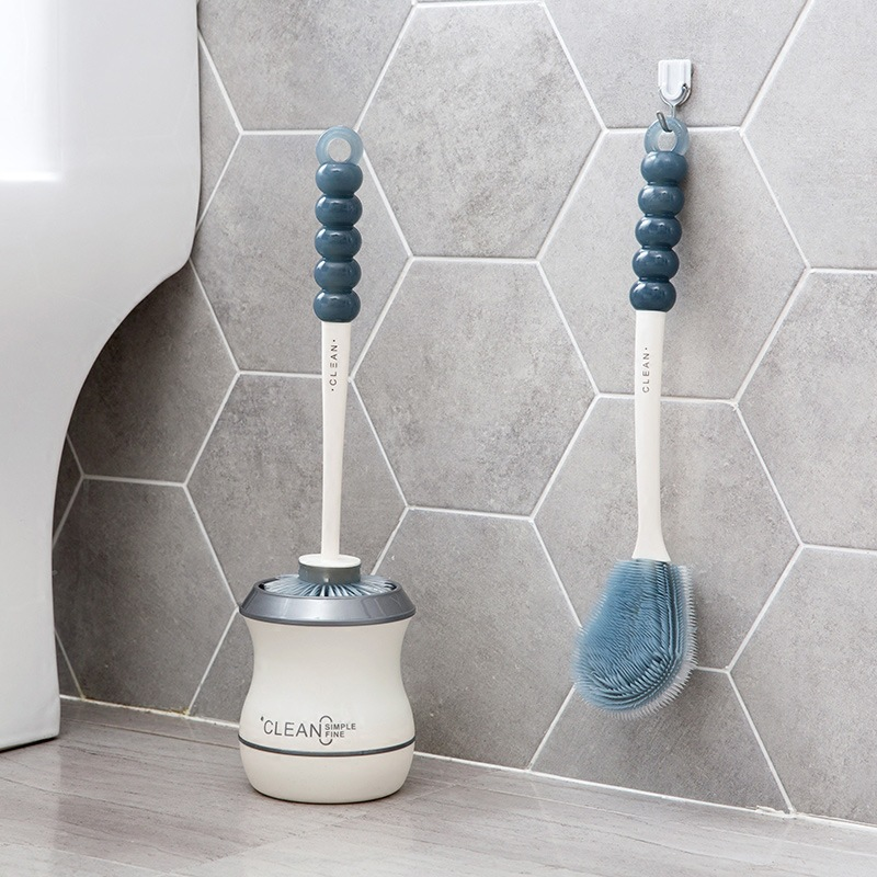 Household Toilet Brush Cleaning Brushes Holder Set Kit Portable Cleaner Silicone Hair Scrub Brush Clean Tool Bathroom Gadgets in Cleaning Brushes from Home Garden