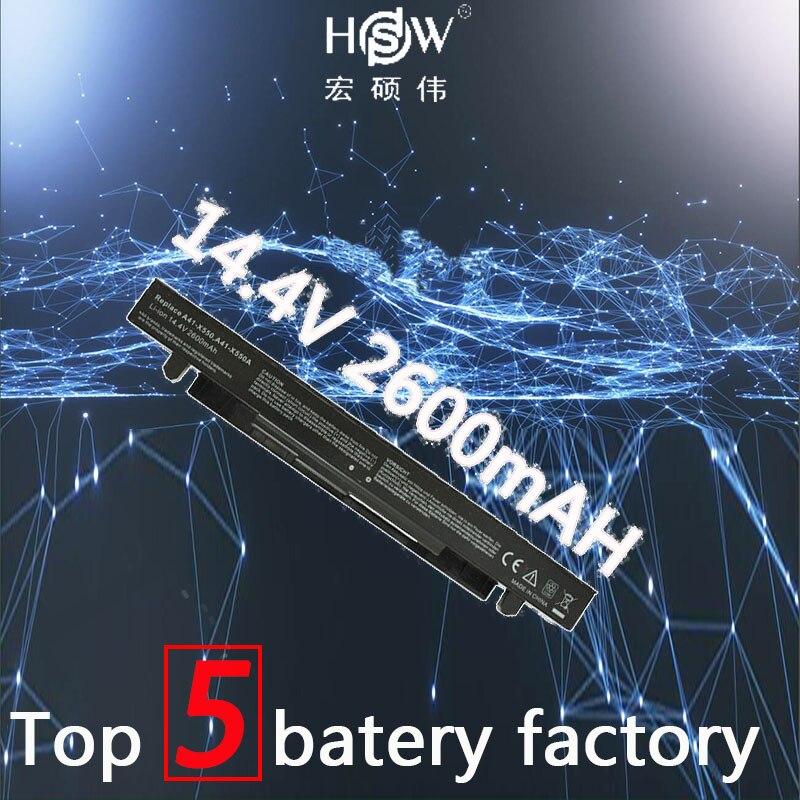 HSW 4cells Battery For Asus A41-X550 A41-X550A A450 A550 F450 F550 F552 K550 P450 P550 R409 R510 X450 X550 X550C X550A X550CA сифон alcaplast a41 flexi a41 a71