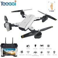 Teeggi SG700 Selfie Drone FPV RC Qudacopter With 720P HD Camera Foldable Dron Altitude Hold Helciopter Optical Follow Mode