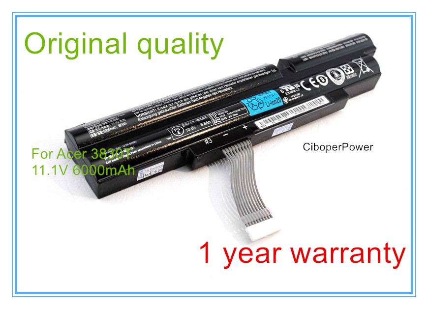 Original Quality New Laptop Battery for TimelineX 4830T <font><b>4830TG</b></font> 5830T 5830TG 3ICR19/66-2 AS11A3E AS11A5E image