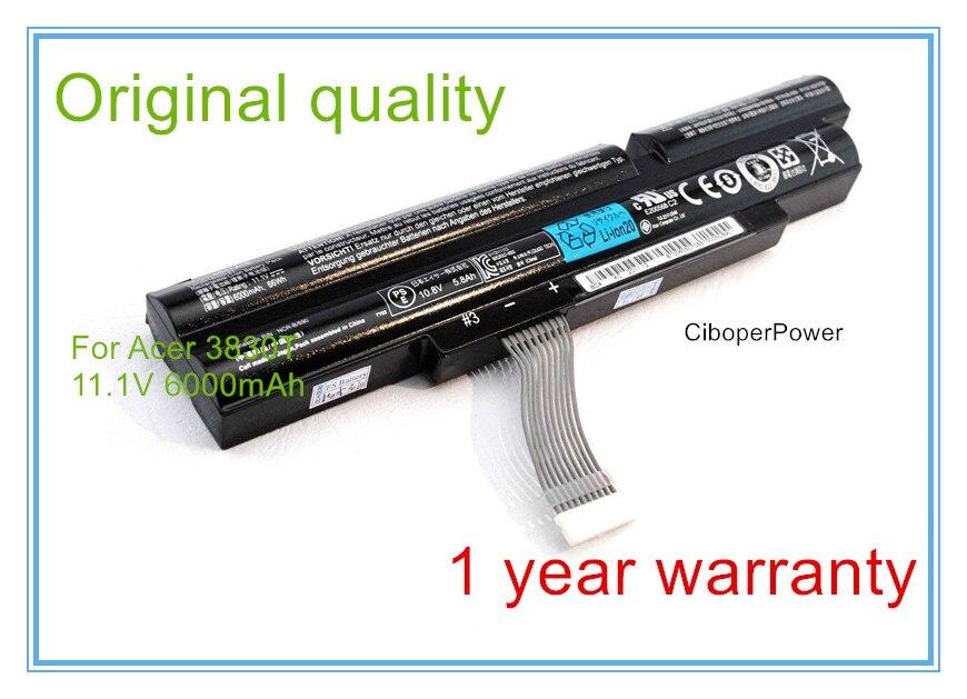 Qualité d'origine Nouvelle batterie d'ordinateur portable pour TimelineX 4830 T 4830TG 5830 T 5830TG 3ICR19/66-2 AS11A3E AS11A5E