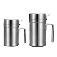 Large Size Stainless Steel Olive Oil Bottle Oil Pot With Cover Honey Pourer Dust Proof Soy