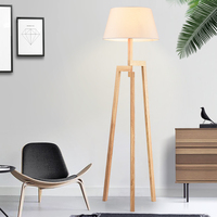 Modern Nordic style simple fashion creative living room bedroom lamp linen tripod floor lamp