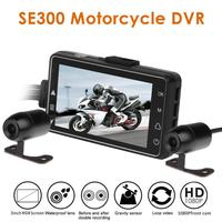 SE300 Motorcycle DVR Front+Rear View Motorcycle Dash Cam Video Recorder Black Night Vision Box Dual Motorcycle Action Camera HD