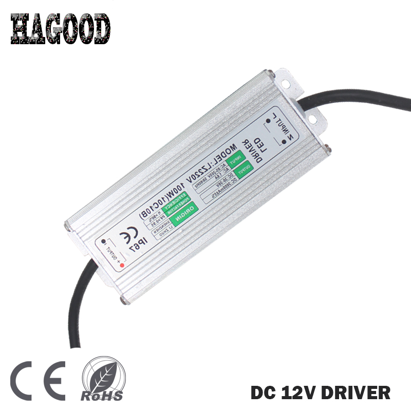 10pcs 100W 10Series10 Parallel Waterproof LED Driver Current 2800-3000mA Transformer Power Supply Adapter for LED Lamps