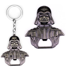 4 High quality Star Wars Jewelry Falcon darth vader metal alloy bottle opener keychain only opener or with key chain llaveros(China)