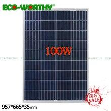 100 Вт 18 в поликристаллическая солнечная панель для 12 В зарядное устройство для батареи система Off-Grid солнечная панель 100 Вт солнечные батареи solat система