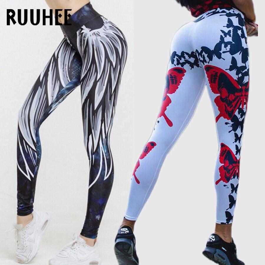 RUUHEE Women Sport Leggings High Waist Yoga Pants Workout Elastic Fitness Leggings For Female Slim Exercise Training Trousers