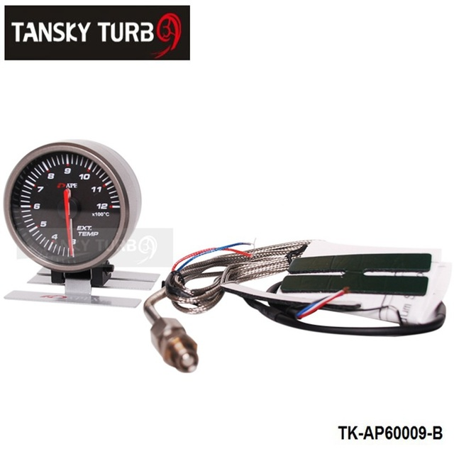 Tansky - AP 60MM EXHAUST GAS TEMP GAUGE ELECTTRO-LUMINESCENT (black) (Original color box ) TK-AP60009-B