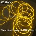 5meters 2.0mm side glow fiber optic car fiber optics