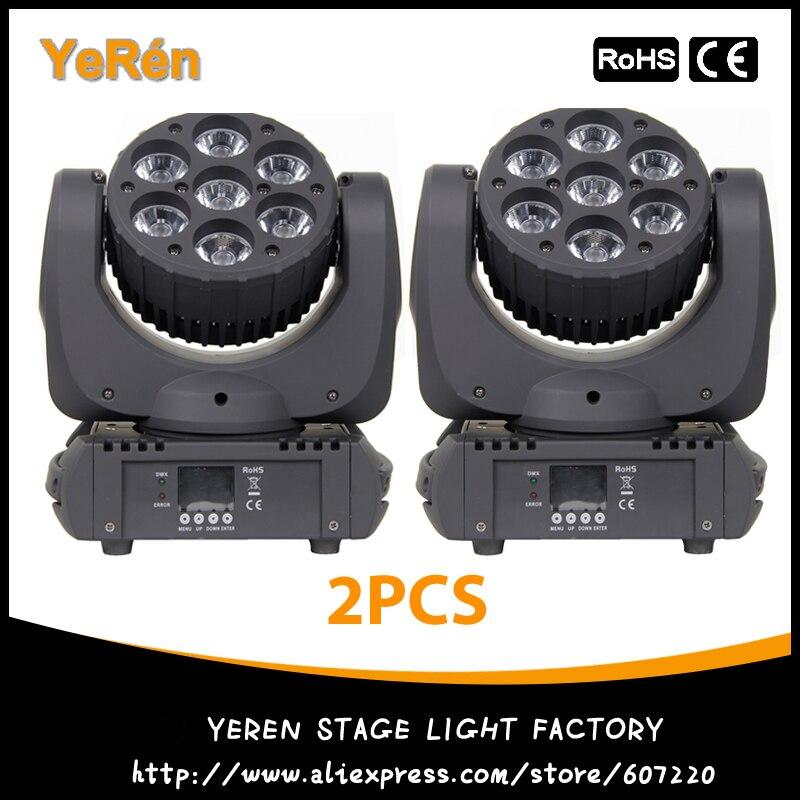 (2PCS) Led Moving Head Beam Light 7*10W Osram Led 4in1 Color DJ Light Stage Lighting