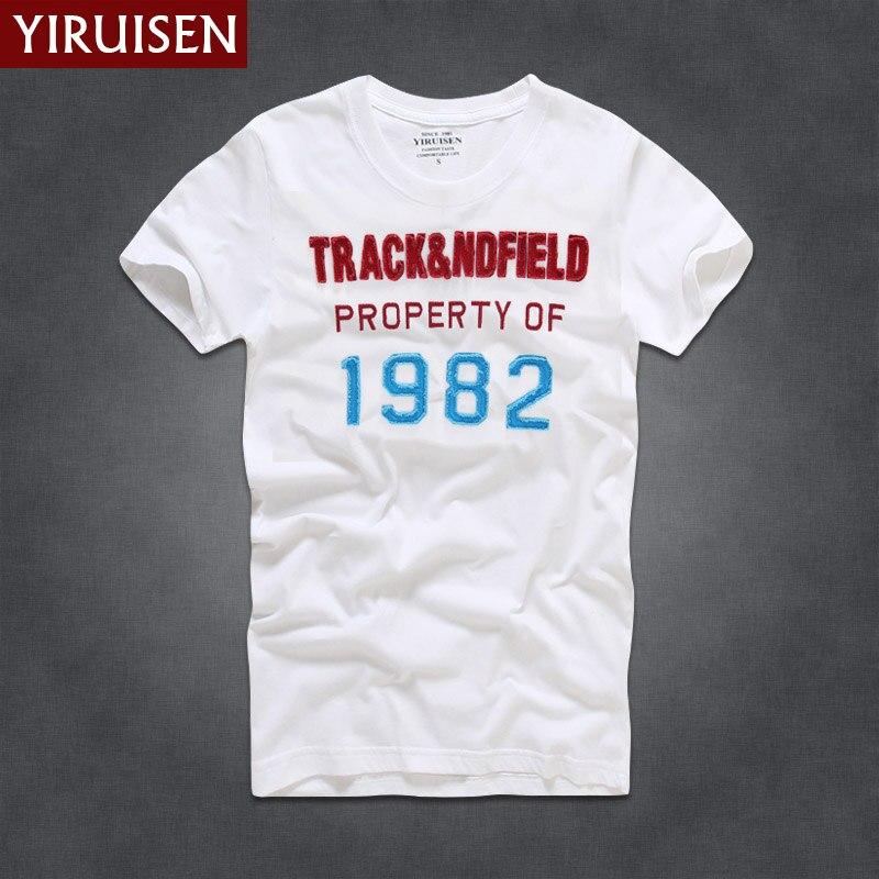 YIRUISEN Gloednieuwe York Stijl t-shirt Mannen Korte Mouw Mode 2016 - Herenkleding - Foto 2