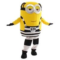 Cartoon Yellow Minions Mascot Costume Halloween Christmas Fancy Dress Free shipping