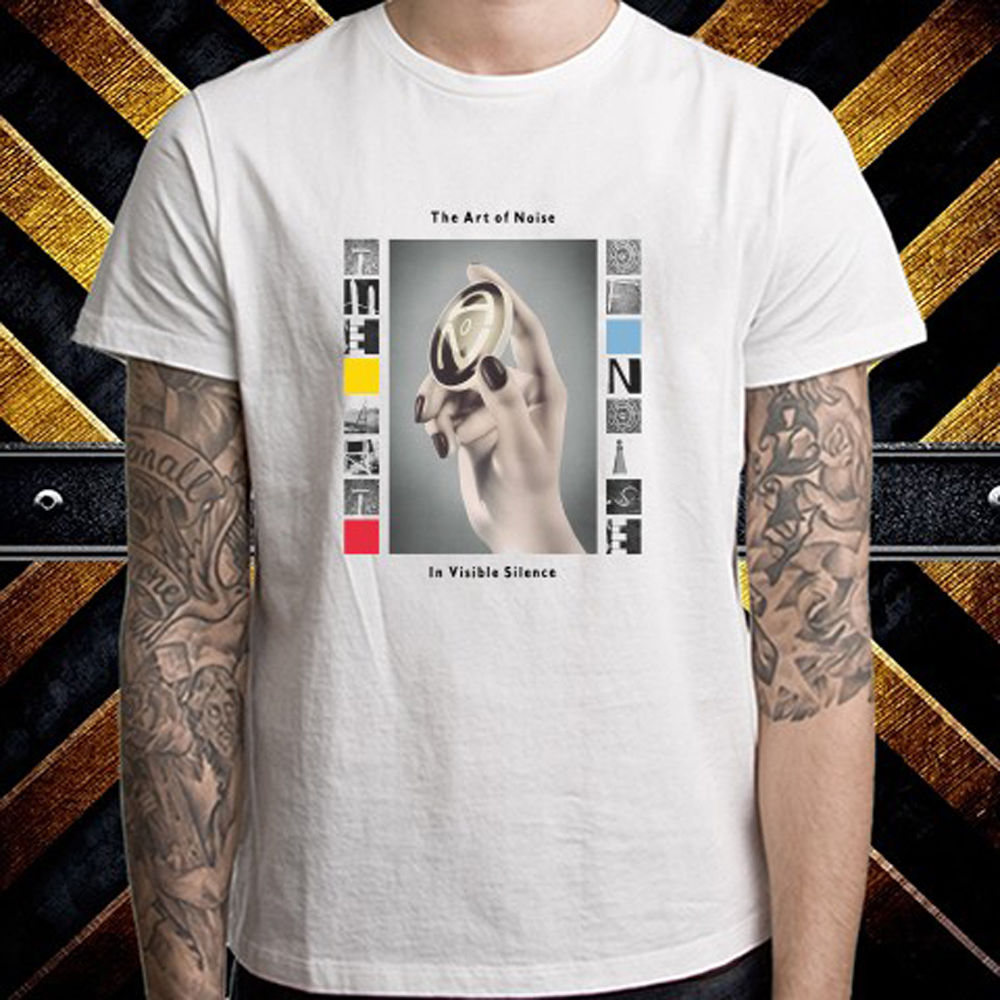 New THE ART OF NOISE Invisible Silence Mens White T-Shirt Size S to 3XL