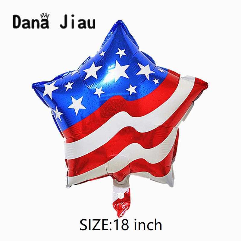"DanaJiau סין לאומי דגל אדום לב בלון ארה""ב עצמאות יום קישוט כלי משחקים אולימפיים המדינה גלוב יום הולדת כדור"