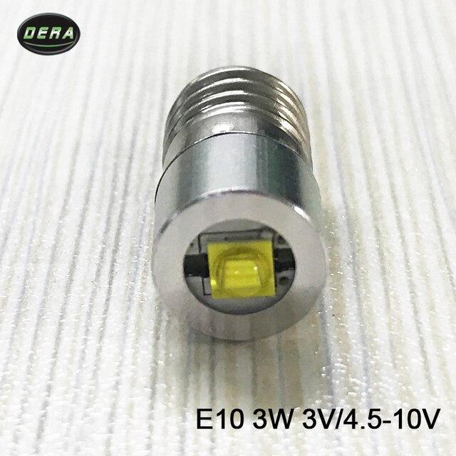 5v Bulb Led 3w For Free To Head E10 Lamp 10v 4 Driving Shipping In 4v And 6v Lights Us35 Light Bulbsamp; 9v 96pcs Flashlight Torch 3watt 12v lJT1cFK