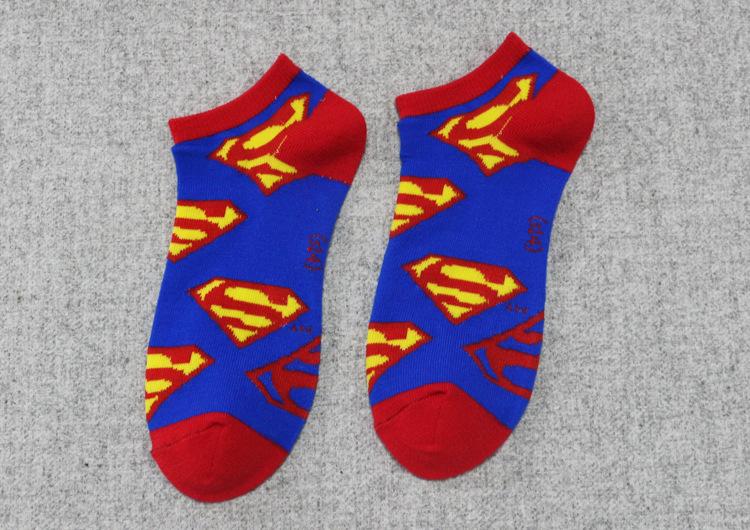 DC Superhero-Pattern Short Socks - Super Comics Online