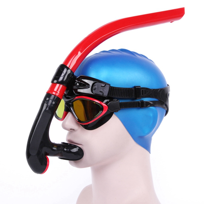 Wet Breathing Tube Center Mount Silicone Mouthpiece One-way Valves Adjustable Diving Snorkeling Swimming Gear Swimwear