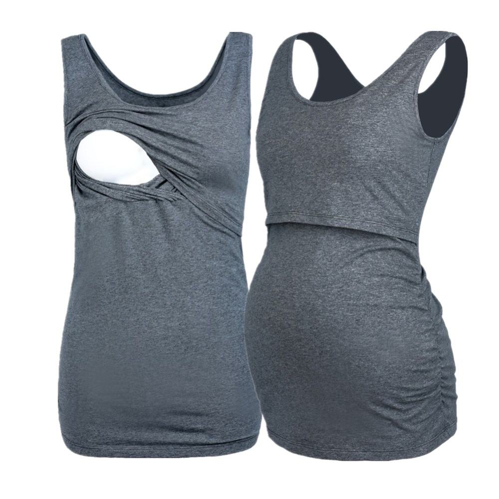7b3d5f881 De maternidad de enfermería Tops para mujeres embarazadas tanque sin mangas  camisa embarazo lactancia Camisetas de ropa de maternidad