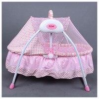 Многофункциональная Детская электрическая колыбель для новорожденных портативная складная кроватка качающаяся кровать электрическая ко
